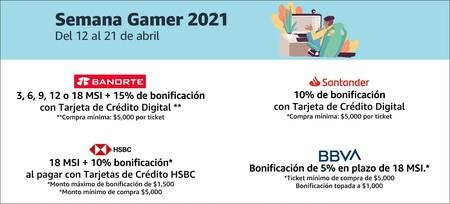 Promociones bancarias en la semana gamer de Amazon México