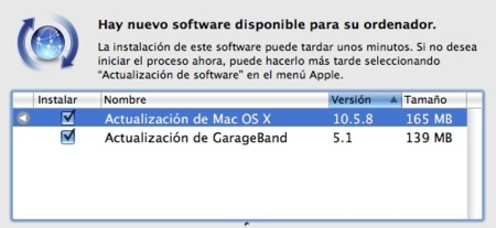 Mac OS X 10.5.8 ya disponible