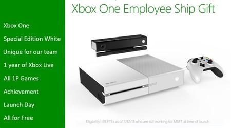 Así es la supuesta Xbox One en color blanco para empleados de Xbox One