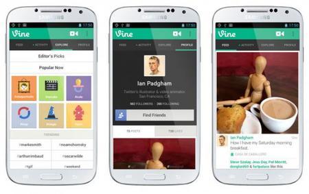 Llega Vine a los dispositivos Android
