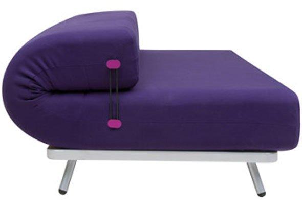Rullo sof cama por karim rashid para soft line for Cama que se dobla