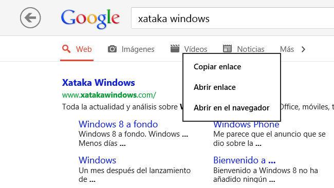Actualización de Google Search Modern UI