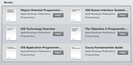 Imagen de la semana: los libros gratuitos de desarrollo en iOS de Apple