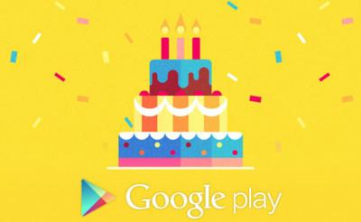 Google Play comienza a celebrar su tercer aniversario con increíbles ofertas