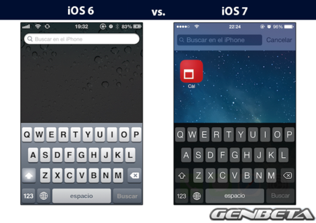 iOs 6 vs iOs 7 - buscar