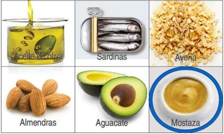 Solución a la adivinanza: el alimento con menos grasas saturadas es la mostaza
