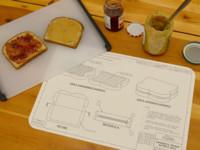 Manteles individuales con instrucciones para construir platillos