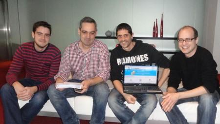 """""""Los problemas para emprender suelen ser ajenos a los emprendedores"""", Ferrán, Javier, Roger, Carles y Daniel, fundadores de Busconómico"""