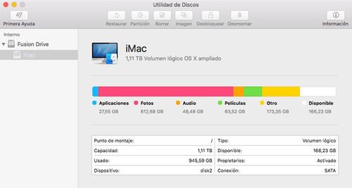 OS X El Capitan le da algo más que un lavado de cara a Utilidad de Discos
