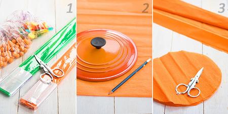 Cómo hacer calabazas con papel para Halloween