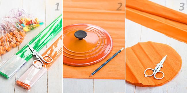 C mo hacer calabacitas de papel rellenas para halloween - Como hacer calabazas de halloween ...
