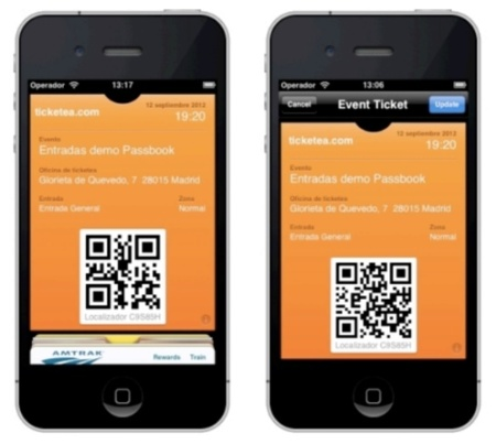 passbook ticketea apple iphone