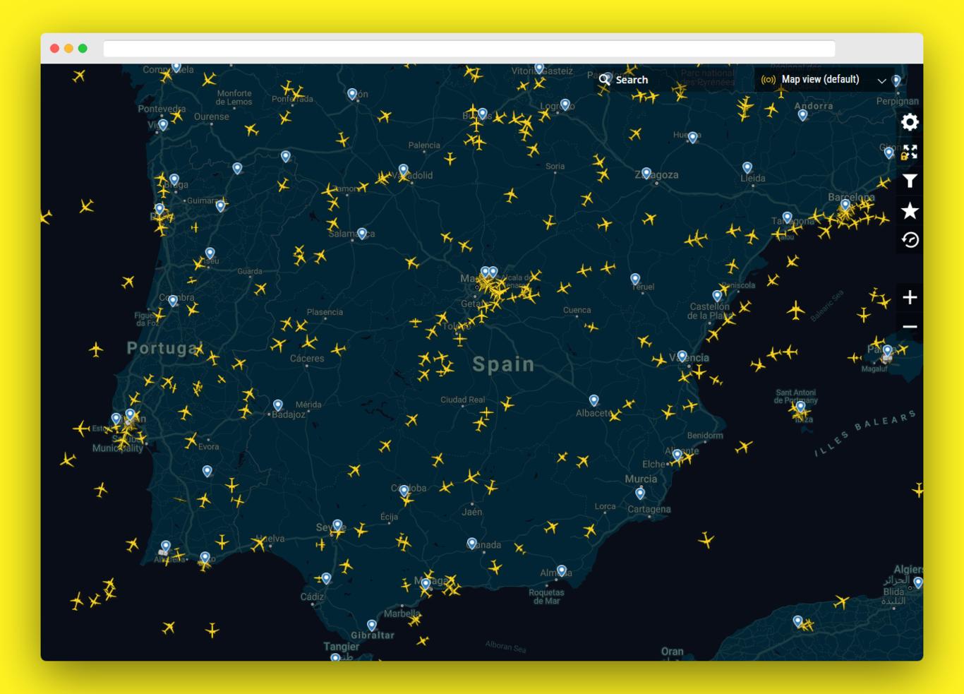 Esta Web Te Muestra El Tráfico Aéreo De Todo El Mundo En Tiempo Real