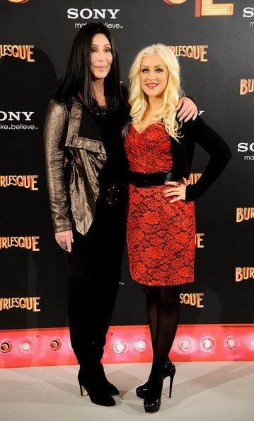 Cher y Christina Aguilera en Madrid