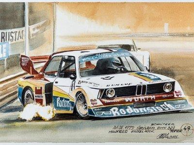 Querrás tener estas 100 pinturas hechas con café en homenaje al centenario de BMW