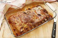 Costillar de cerdo al horno marinado al estilo ibicenco. Receta
