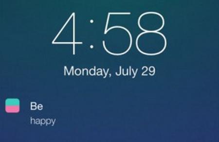 be notificación iphone
