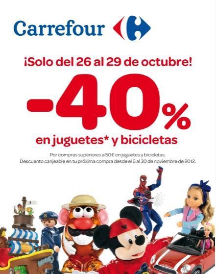Carrefour descuento en juguetes y bicicletas