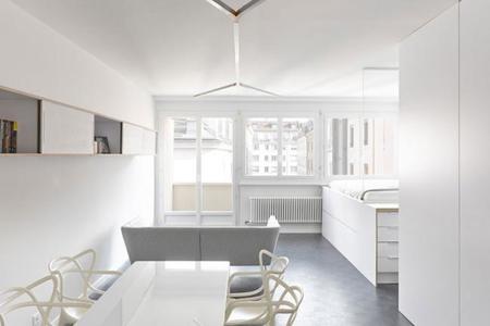 Espectacular remodelación de un apartamento de 35 metros cuadrados en Ginebra