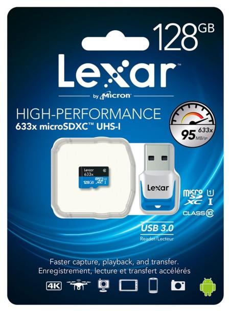Tarjeta de memoria microSDXC Lexar de 128 GB por 42 euros