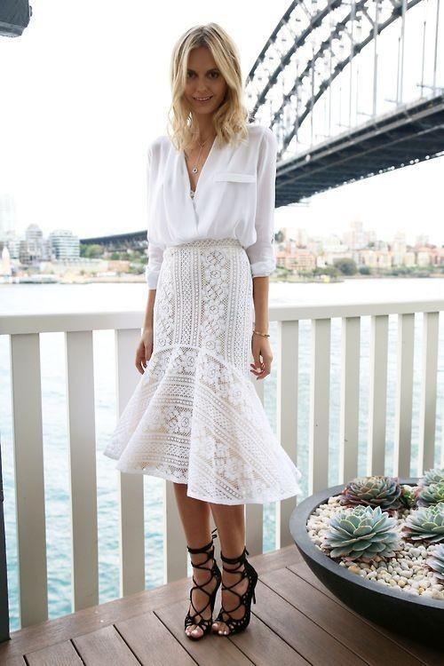 falda sirena estilismo look