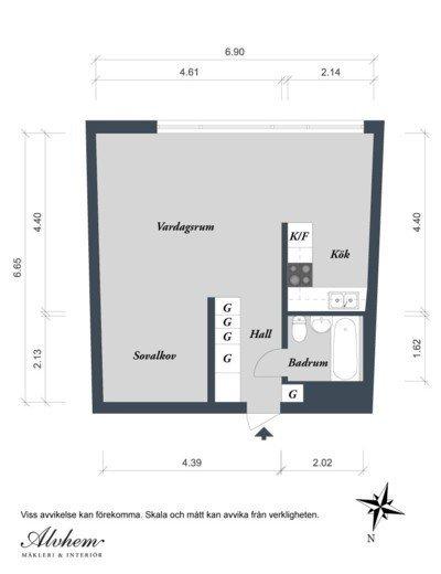 plano apartamento Alvhem