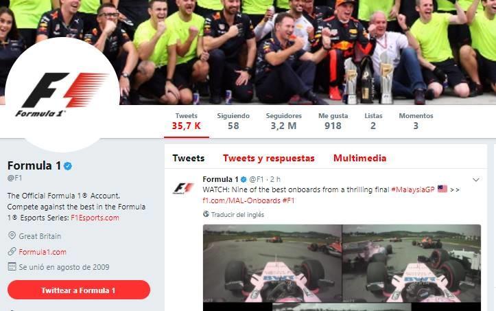 F1 Twitter