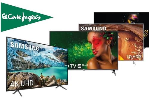 Smart TVs en oferta en El Corte Inglés: hasta un 30% de descuento y envío gratis y en el día en modelos de Samsung y LG