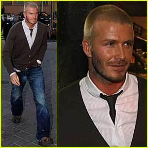 El look de David Beckham en Madrid