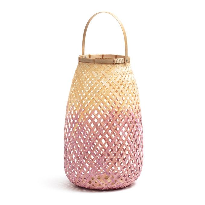 Candil de bambú rosa/natural, CORDO