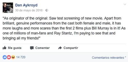 Dan Aykroyd hace un año
