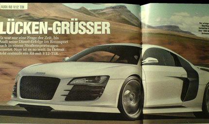 Audi R8 V12 TDI, la sorpresa de Audi para Detroit