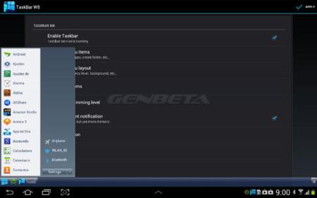 Taskbar – Windows 8 Style, menú de inicio y barra de tareas para Android