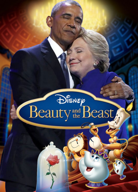 Barack Obama Hillary Clinton Hug Photoshop Battle 4