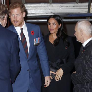 Kate Middleton y una embarazada Meghan Markle apuestan por el negro en el teatro Royal Albert Hall de Londres