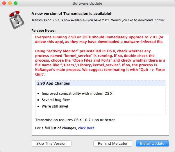 KeRanger, el primer ransomware capaz de afectar a OS X ha sido detectado. Y eliminado