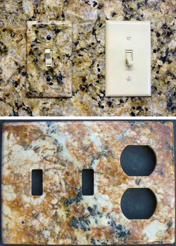 Placas para tus enchufes e interruptores con apariencia de piedra natural