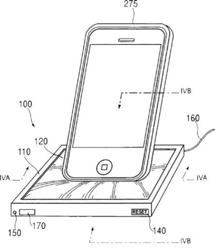 patente esponja dock base cargador apple