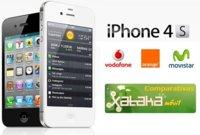Comparativa precios iPhone 4S asociado a las diferentes tarifas de Movistar, Vodafone y Orange