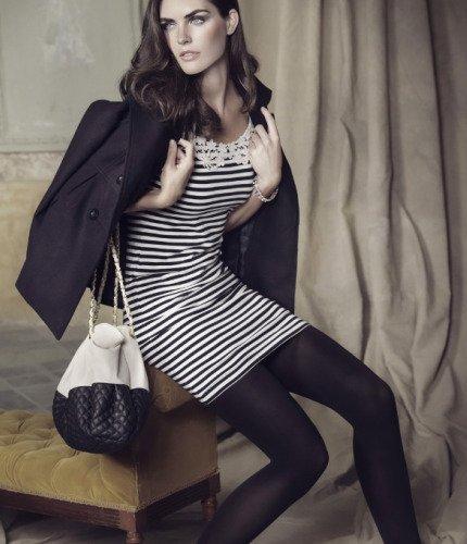 Campaña Blanco otoño-invierno 2010/2011 con Hilary Rhoda, inspiración Chanel