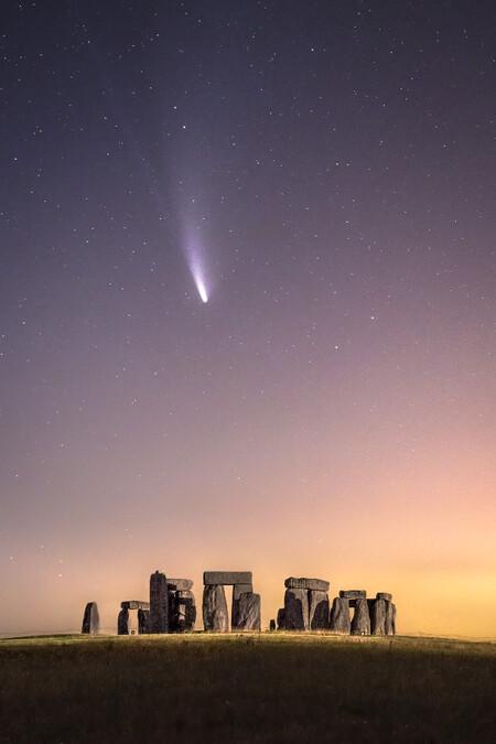 Comet Neowise Over Stonehenge C James Rushforth