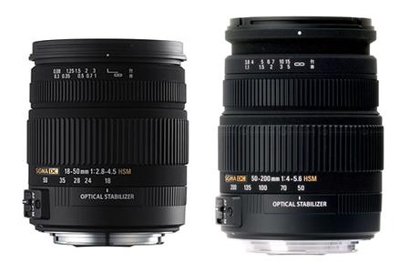 Sigma 18-50mm f2.8-4.5 OS y 55-200mm f4-5.6 OS