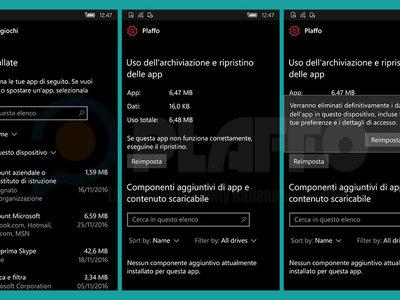 Pronto podrás borrar todos los datos de una app sin desinstalarla en Windows 10 Mobile