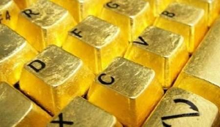 teclado de oro