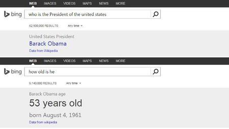 Bing añade algo de Cortana permitiendo hilar búsquedas a modo de conversación