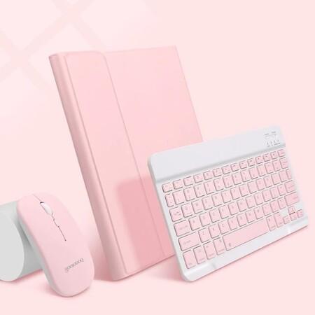 Mouse, teclado y funda para iPad