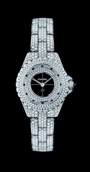 Nuevo reloj Chanel pavé de diamantes para Navidades 2011: el modelo J12 y el Première