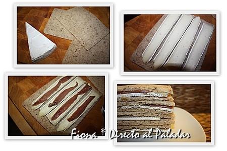 Sandwich de brie con anchoas