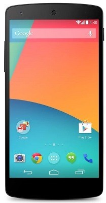 Pantalla de inicio en Android 4.4 KitKat