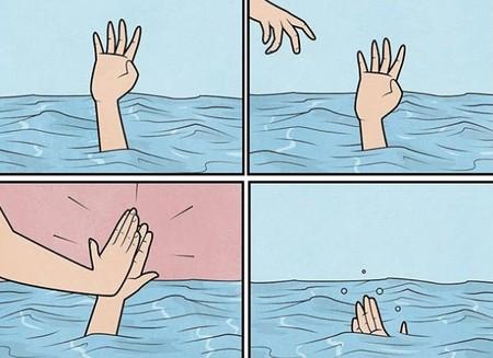 """Gudim: así es la obra del ilustrador que firma el meme de """"tu ex se está ahogando"""""""